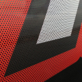 New design permanent adhesive perforated rear window decals