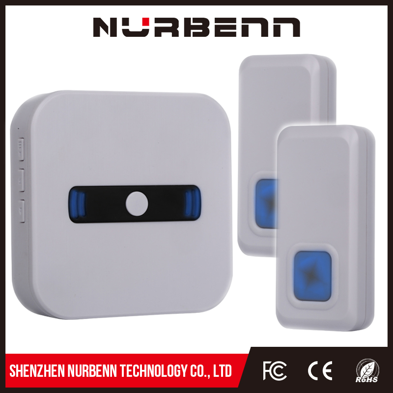 NURBENN video vistor welcoming alarm visible voice doorbell home calling bell cordless doorbell water bell chimes wireles