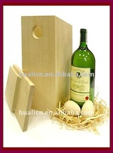Cheap vintage wood wine box,excellent wood gift boxes for wine bottles