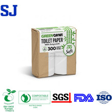 Eco Friendly Bamboo Toilet Paper White Color and Brown Color