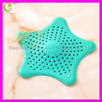 Star shape silicone kitchen outfall drain cover basin sink strainer filter shower hair catcher bathtub stopper silicone plug for