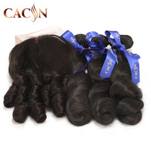 Ali express virgin brazilian hair cuticle aligned hair ear to ear lace frontal closure 360 lace frontal with bundles