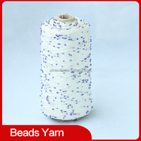 JZ00007 - 1/7.8NM fancy beads yarn which can knit with others yarns