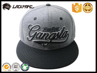 Wholesale 100% cotton adjustable customize 3D embroider logo snapback hat