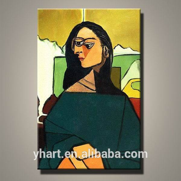Handmade Abstract Mona Lisa Pablo Picasso Fantasy Art Modern Design Oil Painting