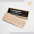pakka wood handle laguiole slice knife set