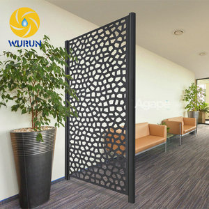 Indoor Decoration Metal Iron Screen Partition Cheap Laser Cut Room Divider