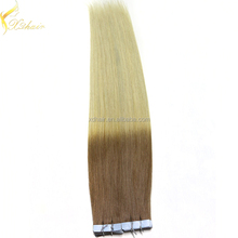 Double weft full cuticle wholesale two tone remy hair extension
