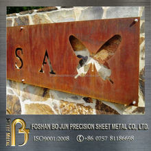 New product customized laser cut wall mounting decoration, high quality corten steel product