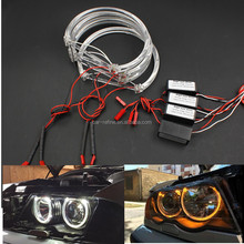 2017 NEW 4*131mm LED Angel Eyes for BMW E46 E39 E38 E36 Projector SMD LED halo ring kit white Yellow LED angel eyes for bmw e46