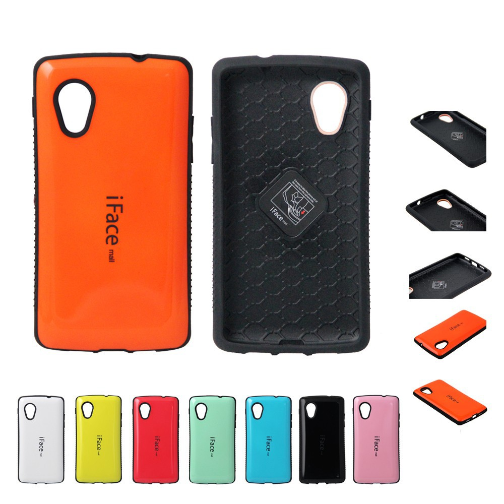 Newly design Iface mall case for lg nexus 5, hot sell colorful case for lg nexus 5