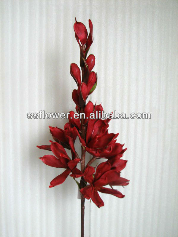 "New Arrival Silk Flower Artificial FLowers 35"" Artificial Magnolia Spray"