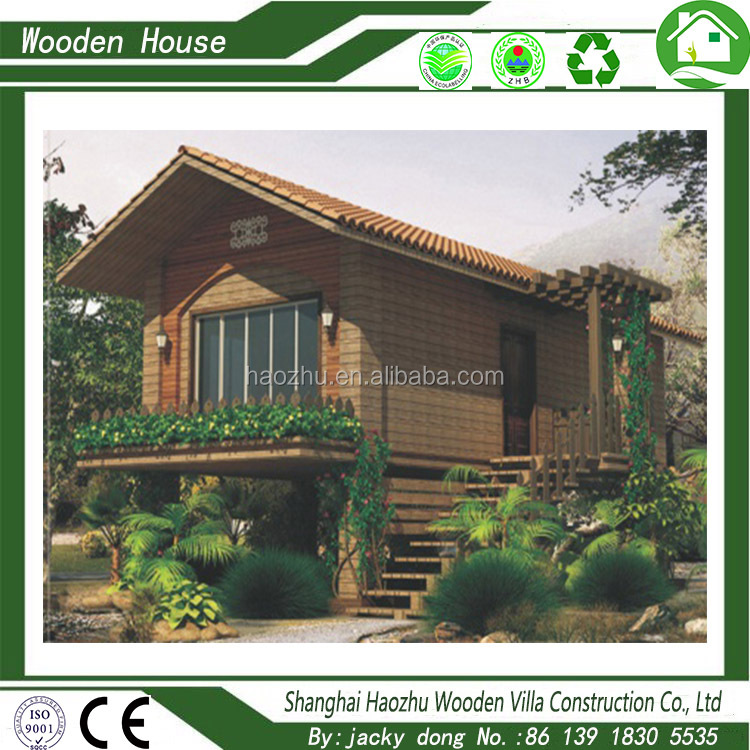 Timber frame prefabricated wooden log cabin mobile homes