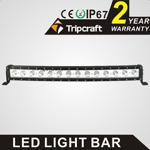 Factory direct curved led light bar 140w 30 inch single row led off-road driving light bar wit 10w crees chips