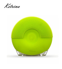Electric facial cleansing brush Vibration Recharging silicone face scrubber in spa life