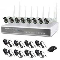 Outdoor P2P Surveillance 8CH Wireless WIFI NVR camera kit/ 720P HD Mobile surveillance 8ch security system