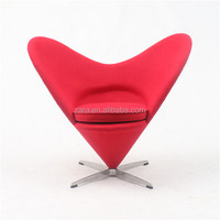 Classic replica Red Heart Chair/Verner Fabric Customized Furniture Heart Chair