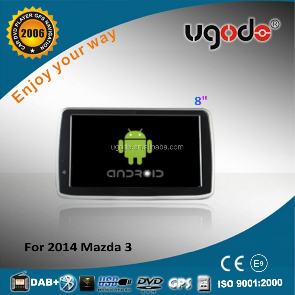 ugode Android 4.4.2 car dvd in dash for Mazda 3 android dvd GPS 16GB Flash 2014