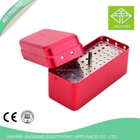 72 hole open size dental diamond burs holder with 5 colors