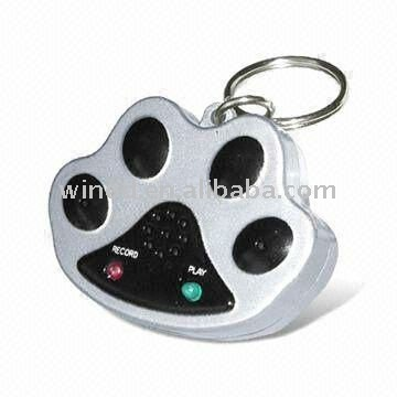 Waterproof Voice Recorder Tag for Pet/Dog