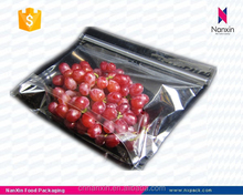 fresh fruit packaging ziplock foil bag with one side transparent