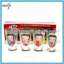 Betty Boop design measuring drinking glass cup