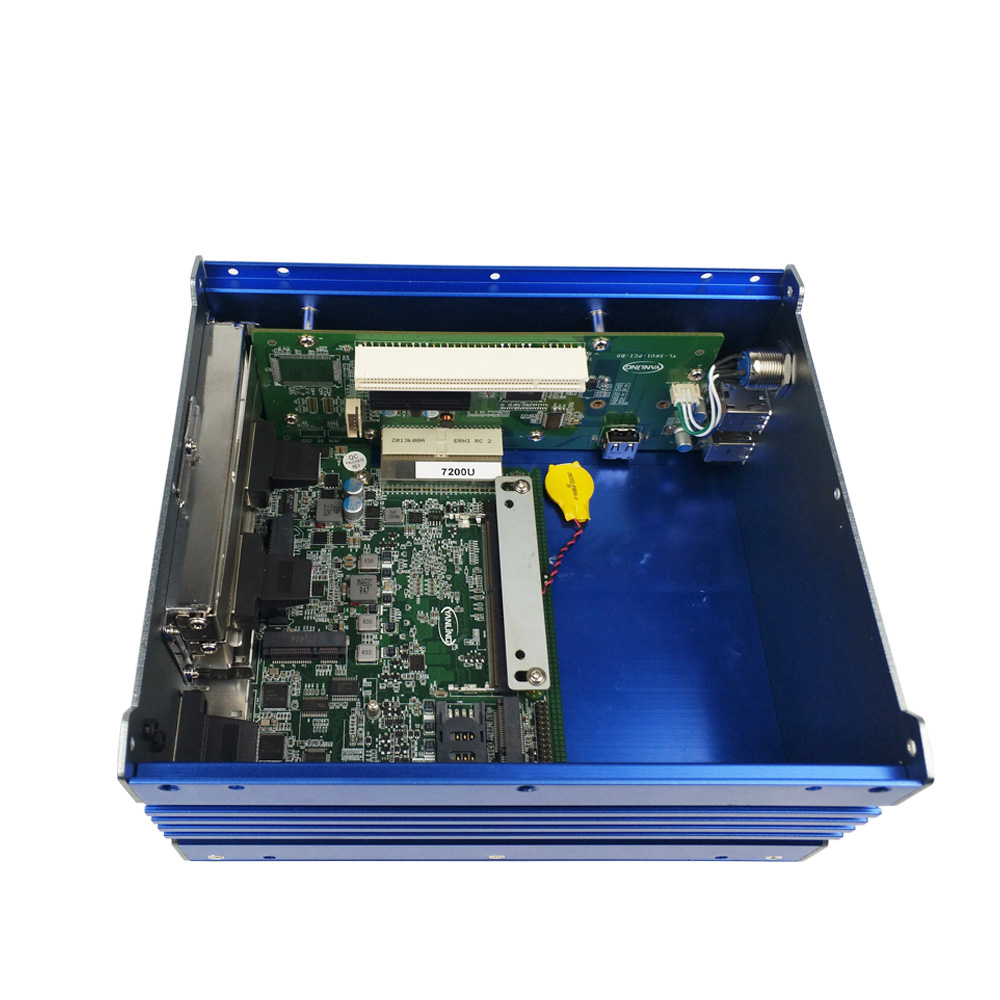 Core i3, i5, i7 Industrial mini pc with pci slot, 4USB and 4RS232