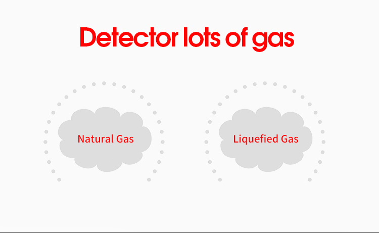 Newest design LPG Gas detector connect to elecmagnetic shut off valve