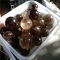 natural dark smoky quartz crystal spheres