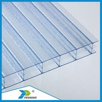 colored polycarbonate hollow sheet with UV protection 10mm used in engineering