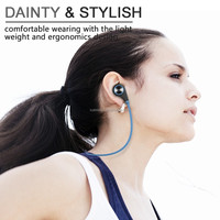Kans Bluetooth 4.0 Wireless Sports Headphones In-ear Running Stereo Earbuds Headsets with Mic for iPhone 6s 6s Plus
