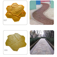3years warranty concrete stencil road floor PU stamped concrete molds in moulds