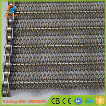 ss hygienic grade Chain transfer stainless steel wire mesh second hand conveyor belt for beverage