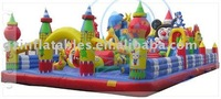 2014 {Qi Ling} inflatable playground on sale,giant inflatable playgrounds,micky design inflatable fun city
