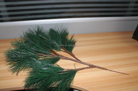 indoor decorative artificial pine tree leaves for sale