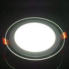 18W home decor office recessed ceiling led light panel glass