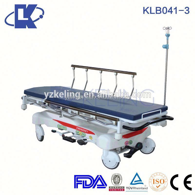 adjustable height trolley emergency equipment for hospital multi level ambulance stretcher