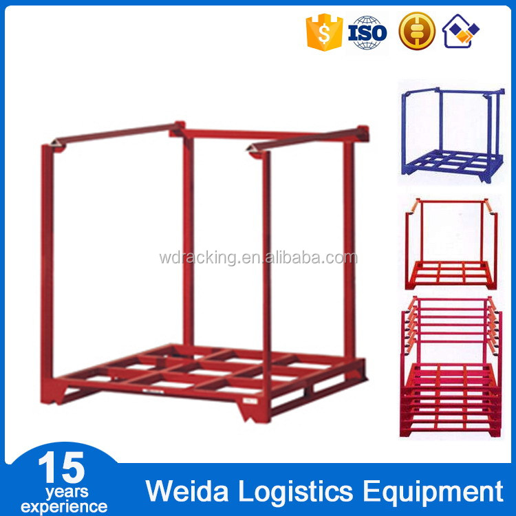 Foldable Metal Stacking Racks for Warehouse Truck Tyre Storage