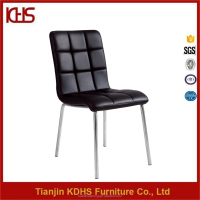 Modern Wholesale PU Leather Chrome Metal Legs Dining Chair