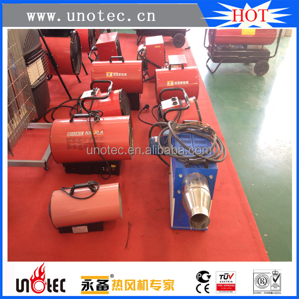 Preheating components electric heater