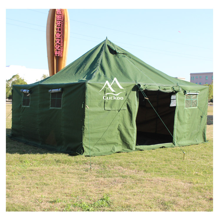 large heavy duty waterproof canvas camping winter used military army tent