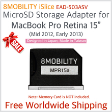 New 8MOBILITY iSlice 2012 2013 Silver for MBP Pro Retina A1398 Nifty Minidrive Aluminum SD Card Adapter Reader