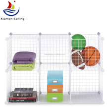 2015 NEW metal wire storage grid wire modular shelving and storage cubes