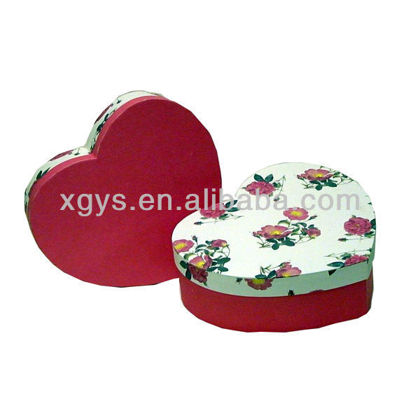 Heart Shaped Wedding Gift Box Packaging (XG-GB-130)