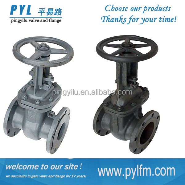 Gost flange os&y stem dn150 gas gate valve for Russian