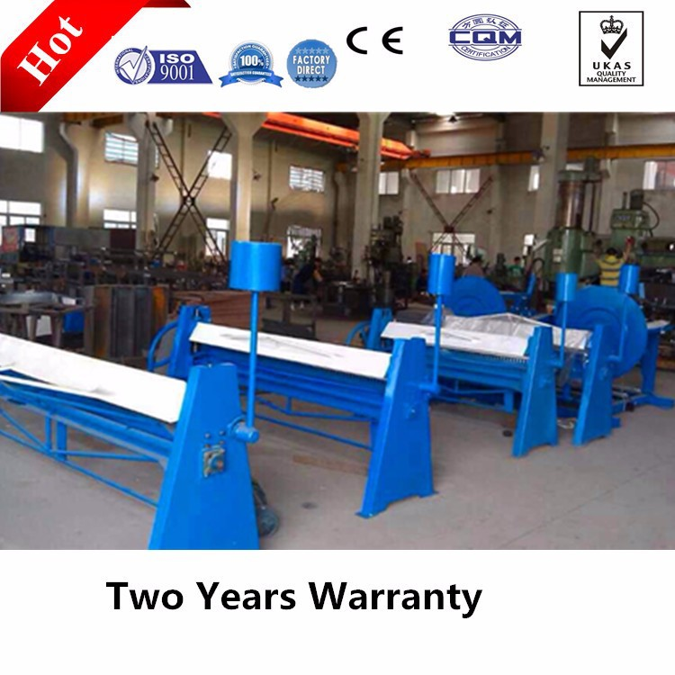 S-1.2*2500 manual sheet metal bending folding machine