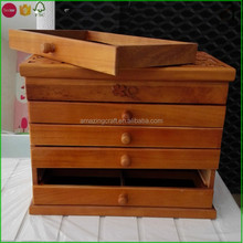 Brown Painted Wooden Jewellery Gift Packging Box Wholesale