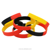 100% debossed custom sport silicone rubber armbands wristband
