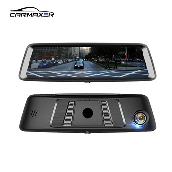 10 inch full screen Streaming media 1080p 4G car mirror monitor