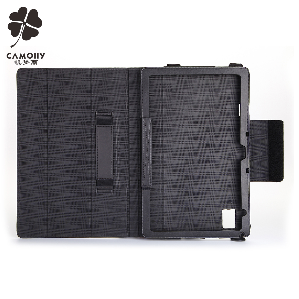 removable shoulder belt leather tablet cover case for ipad air 1/2/3/pro with handle